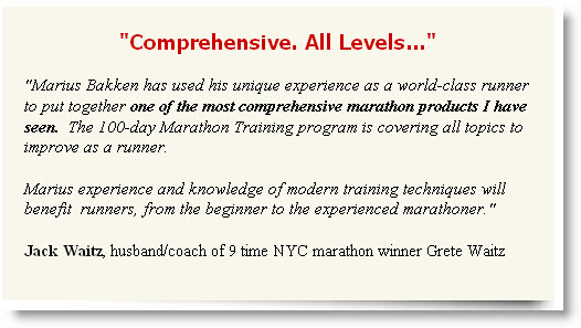 marathon training program